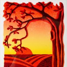 Summer Daze : Linocut : Kirstie Maclean