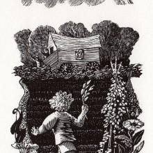 The Chosen Dove : Wood Engraving : Ruth Oaks