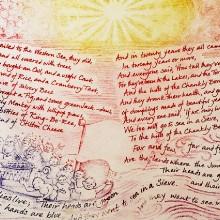 The Jumblies (detail) artist's book : Solar etching : Ruth Oaks